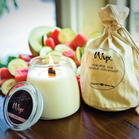 Melon Candle Burning and Bag